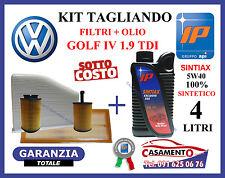 KIT TAGLIANDO OLIO IP 5W40 4LT + 4 FILTRI VW VOLKSWAGEN GOLF IV 1.9 TDI