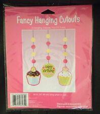 SWEET TREATS CUPCAKE Fancy Hanging Cutouts Birthday Party Supply Favors NIP