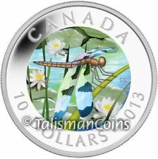 Canada 2013 Dragonfly #1 Twelve-Spotted Skimmer $10 Hologram Pure Silver Proof