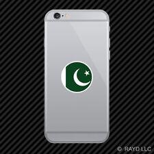 Round Pakistani Flag Cell Phone Sticker Mobile Pakistan PAK PK