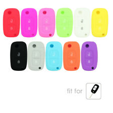 Silicone Cover fit for RENAULT Clio Megane Kangoo Modus Flip Remote Key 2 Button