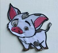 Cute pig moana cartoon badge clothes Embroidered Iron on Sew on Patch