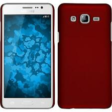 Hardcase Samsung Galaxy On5 rubberized red Cover + protective foils