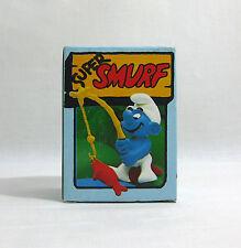 NEW 1979 Vintage Smurfs ✧ ANGLER ✧ Schleich Peyo Super Smurf #4.207 MIB