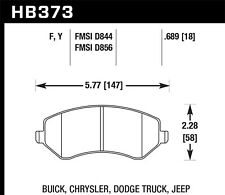 Disc Brake Pad Set-SE, Rear Drum Front Hawk Perf HB373F.689