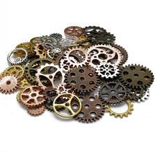 100 Gear (Approx 80pcs) DIY Assorted Color Antique Metal Steampunk Gears Charms