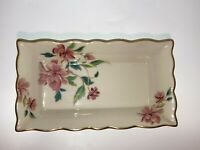 Vintage Lenox Barrington Collection Dresser Jewelry Tray with Gold Trim USA