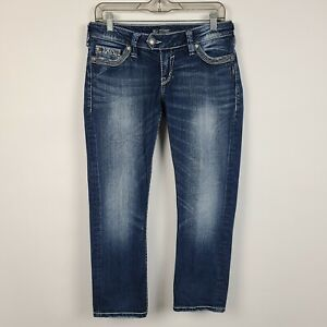 Silver Tuesday Low Rise Capri Womens Dark Wash Jeans Size 29