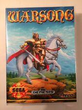 Warsong - Sega Genesis - Replacement Case - No Game