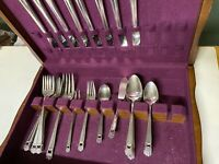 1847 Rogers Bros Silverplate Flatware ETERNALLY YOURS 38 pc for 8+serving+chest