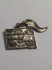 Nice Vintage Sterling Silver Necklace Bracelet Charm ~ South Dakota Wall Drug