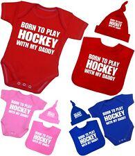 Ma maman m/'aime pas hockey-personnalisé bébé bib drôle cadeau vêtements présent