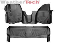 WeatherTech FloorLiner Ford Super Duty OTH SuperCrew w/Raised - 2012-2016 -Black