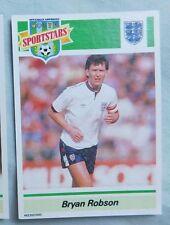 1989 Sports Stars Bryan Robson England England Soccer Card