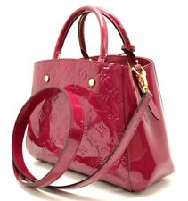 Authentic New Louis Vuitton Red Montaigne BB MV Rose IND. M50172 Handbag