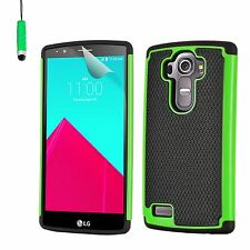 Dual Layer Shockproof Case Cover LG Phones + Screen Protector & Stylus