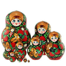 red berries Russian Nesting Doll 10 Pcs 5.5 inches