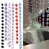 1M Garland Diamond Strand Acrylic Crystal Bead Curtain Wedding DIY Party Decor