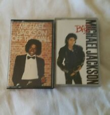 MICHAEL JACKSON   2 CASSETTE ALBUMS -   BAD & OFF THE WALL