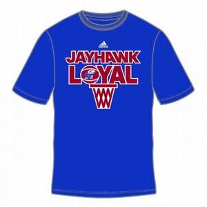 KANSAS JAYHAWKS ADIDAS (TEAM LOYAL) NCAA S/S TEE T SHIRT BLUE SZ M L XL XXL NWT