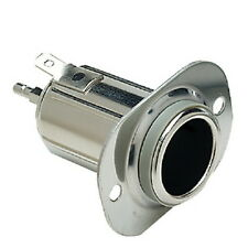 12 Volt Chrome Plated Steel Power Socket / Receptacle for Boats - 16 Amp Rating