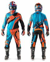 MAGLIA PANTALONI CROSS ENDURO ACERBIS MX PROFILE '17 ARANCIO BLU ORANGE TG 34 L
