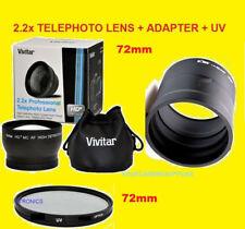2.2x TELEPHOTO LENS 72mm+UV FILTER+ADAPTER > CAMERA FUJI S4400 S4500 S4050 S4530