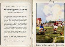 QUADERNO FASCISMO FELICE BOREL CALCIO FOOTBALL BUDAPEST  ITALIA UNGHERIA 1933