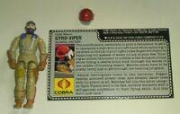 1987 GI Joe Cobra Gyro Viper Mamba Driver Figure w/ Un-Cut File Card *Complete