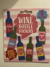 Pack Of 6 Wine Bottle Labels Novelty