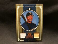 2005 Bill Hall Diamond Kings Donruss Baseball Game Used Jersey Bat Card #127