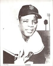 1959 Willie Mays San Francisco Giants 8x10 Reproduction B&W Photo