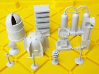Vintage MARX Space Playset Accessories Parts Buildings Structures Tom Corbett