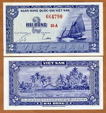 South Vietnam, 2 dong,  ND (1955) Pick 12 UNC