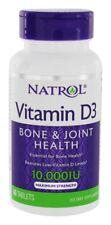 Natrol Vitamin D3 10,000 IU Maximum Strength - 60 Tablets, NEW, Sealed.