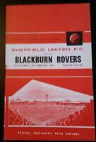Sheffield United v Blackburn Rovers Programme 27/02/65
