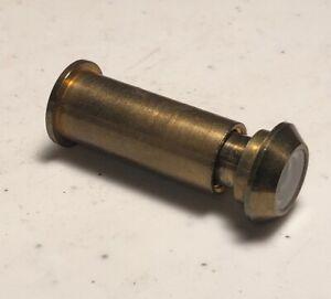 "Vintage Brass Security Door Viewer Spy Peep Hole 2""- 1.25"""