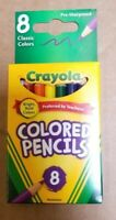 Crayola Short Colored Pencils Classic Colors, Pack of 8 Classic Crayola