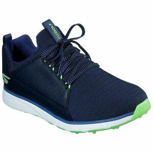 Skechers Mens GoGolf Mojo Elite Spikeless Golf Shoes - Navy/Lime