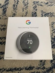 Google Nest 3rd Gen Thermostat T3007ES Stainless Steel BRAND NEW Factory Sealed