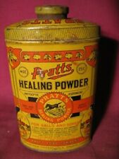 Scarce Antique Pratts Healing Powder Veterinary Advertising Tin