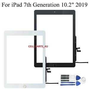 "iPad 7 7th Gen 2019 10.2"" Replacement Screen Digitizer Adhesive + HomeButton"
