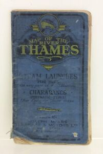 Vintage Map of The River Thames Joseph Mears Circa1925