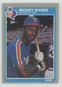 1985 Fleer Mickey Rivers #565