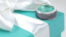 Tiffany & Co. Coin Edge Midnight Black Titanium Ring Size 6.5 TI Silver 925