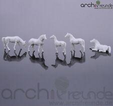 10 x Cavalli modello, bianco, per fattoria MODELLISMO MODELLO ferroviario traccia h0