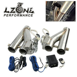 2.5'' 64MM Dual Valve Exhaust E-Cut Out Y-Pipe Electric Pipe Remote Controller