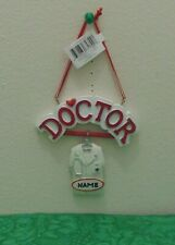Doctor Coat Personalized  Christmas Tree Ornament Holiday Gift