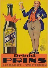 "TARGA VINTAGE ""PRINS BELGIAN BEER 1950"" PUBBLICITA',ADVERTISING,POSTER,PUB PLATE"