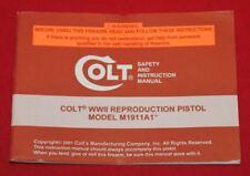 COLT Firearms Factory M1911A1 Word War II 1911 Manual Original 2001